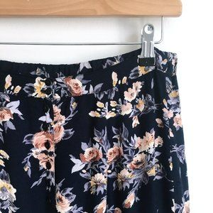 Vintage buttondown floral midi skirt - size Small